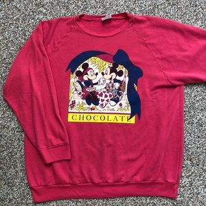 Vintage Disney Mickey Minnie Mouse sweatshirt XL